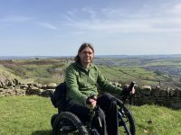 Our Managing Director using a Mountain Trike