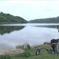 A wheelchair user at Scammonden Water